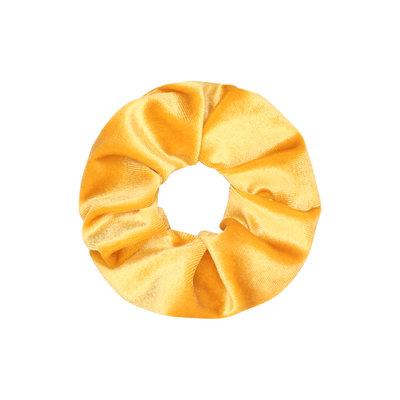Scrunchie haarelastiek velvet geel