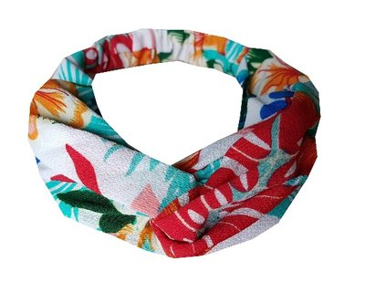 Haarband twist tropical color wit