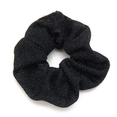 Scrunchie haarelastiek glitter zwart
