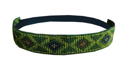 Haarband kraaltjes groen
