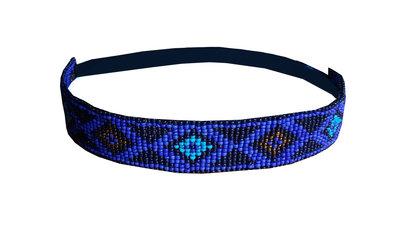 Haarband kraaltjes blauw