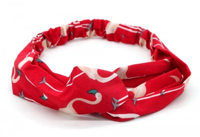 Haarband Twist Flamingo Rood