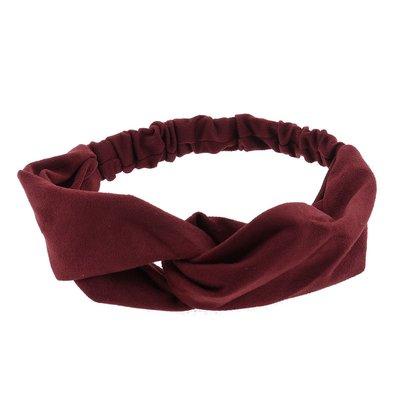 Haarband velvet twist rood