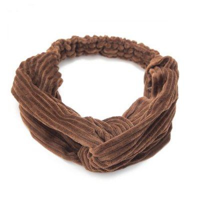 Haarband velvet twist rib bruin