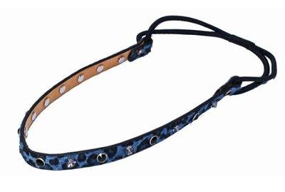 Haarband panter studs strass blauw