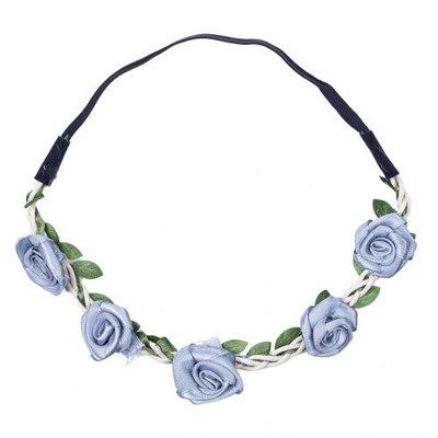 Haarband  roos satijn grijs