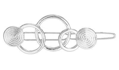 Haarclip cirkels zilver