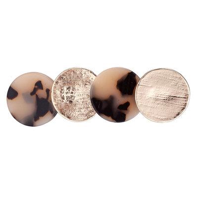 Duckklem cirkel panter goud bruin