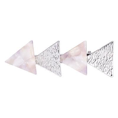 Duckklem driehoek zilver parelmoer