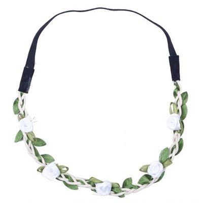 Haarband roosjes satijn wit