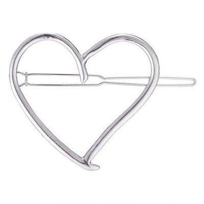 Haarclip hart zilver
