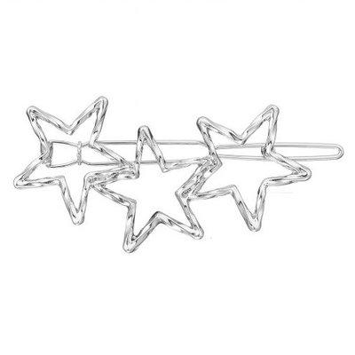 Haarclip sterren zilver