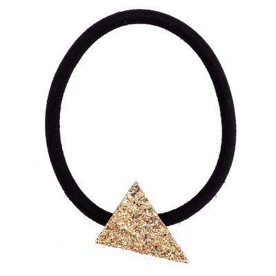 Elastiek driehoek goud