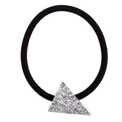 Elastiek driehoek zilver