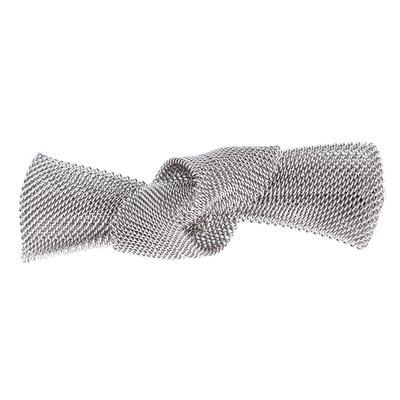 Duckklem knoop zilver