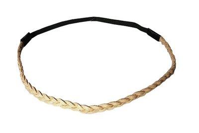 Haarband gevlochten goud