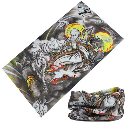 Haarband multifunctioneel boeddha grijs geel
