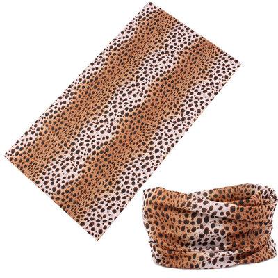 Haarband multifunctioneel luipaard bruin