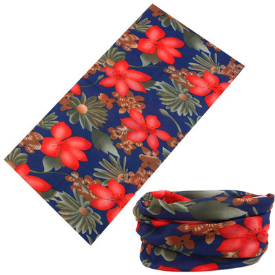 Haarband multifunctioneel bloem rood groen blauw