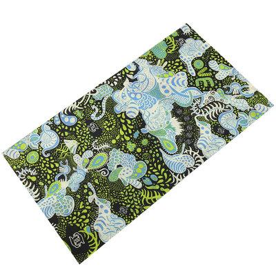 Haarband multifunctioneel fantasie blauw groen
