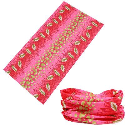 Haarband multifunctioneel leaves roze