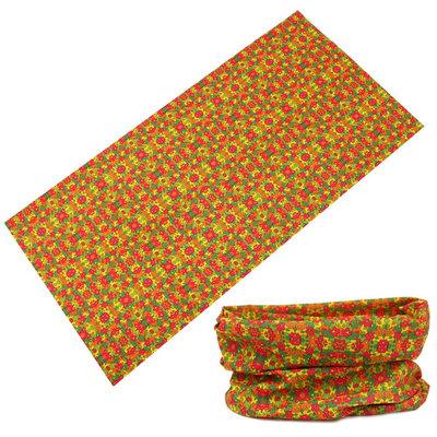 Haarband multifunctioneel fantasie roze oranje groen