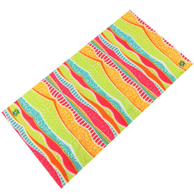 Haarband multifunctioneel streep oranje groen