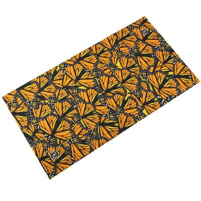 Haarband multifunctioneel vlinder oranje geel