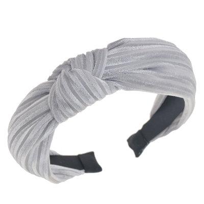 Diadeem knoop velvet grijs
