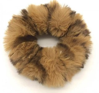 scrunchie-furry-panter-bruin