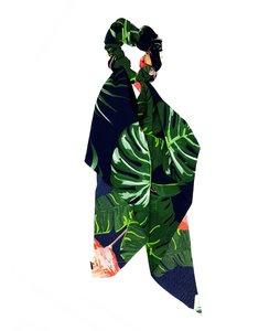 scrunchie-leaves-groen-blauw