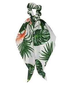 scrunchie-linten-leaves-wit
