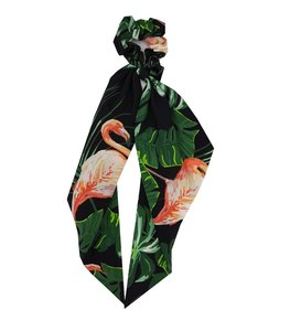 scrunchie-leaves-groen-zwart