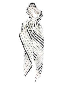 scrunchie-streep-print-zwart-wit