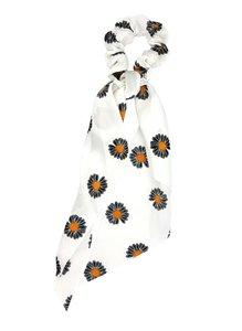 scrunchie-bloemen-print-zwart-wit