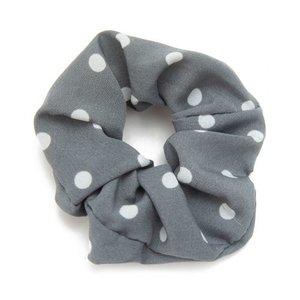 scrunchie-haarelastiek-dot-grijs