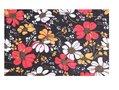 Haarband Multifunctioneel Bloemen Print Zwart Wit Rood