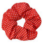 Scrunchie Haarelastiek Stippen Rood