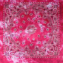 Bandana Zakdoek Batik Print Roze