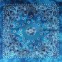 Bandana Zakdoek Batik Print Blauw