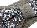 Haarband Knoop Knitted Pailletten Grijs - Gebreide Haarband