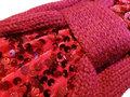 Haarband Knoop Knitted Pailletten Rood - Gebreide Haarband