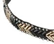 Haarband kraaltjes goud zwart